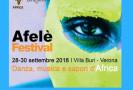 28-30 settembre 2018 – AFELE' FESTIVAL danza, musica e sapori d'Africa
