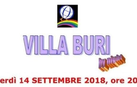 14 settembre 2018 – VILLA BURI Onlus appuntamento di fine estate
