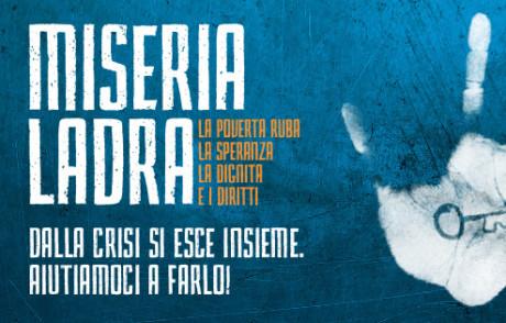 """""""Miseria ladra"""", la campagna del Gruppo Abele e di Libera"""